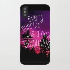 Sunrises are New Beginnings iPhone X Slim Case