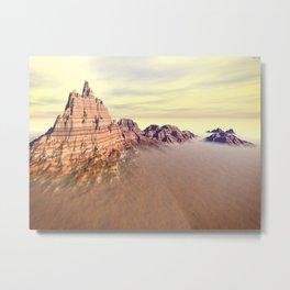 Sedimentary Mountain Range Metal Print