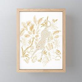 Golden Cheetah Framed Mini Art Print