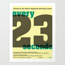 Every 23 seconds Art Print