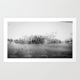 A través del cristal (black and white version) Art Print