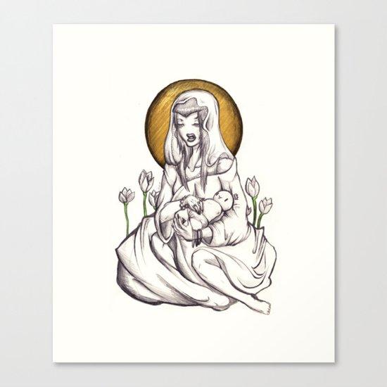 Madonna of Plastic Canvas Print