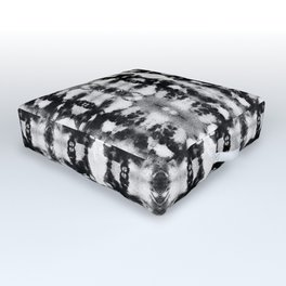 Tie-Dye Blacks & Whites Outdoor Floor Cushion