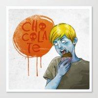 chocolate Canvas Prints featuring Chocolate by Alvaro Fernandez Pereda - Illustration