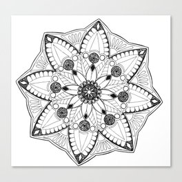 Wood Anemone Mandala Canvas Print