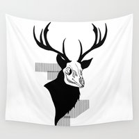 stag Wall Tapestries featuring Stag by Leviathan-I