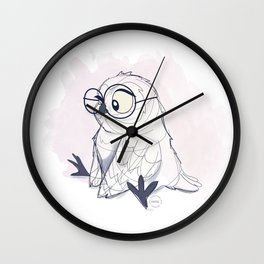 Litte Owl Wall Clock