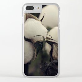 Cotton Field 7 Clear iPhone Case