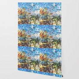 Modern Geometrical Colorful Squares - Art By Sharon Cummings Wallpaper