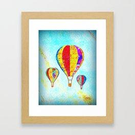 Beautiful Balloons Mosaic-Look Framed Art Print