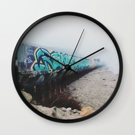 Beach Graffiti Wall Clock