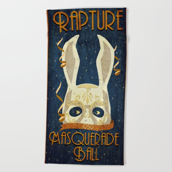 Rapture Masquerade Ball 1959 Beach Towel