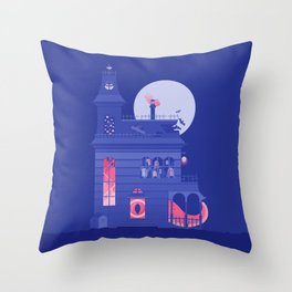 Cursed Residence Throw Pillow
