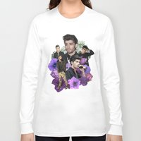 zayn malik Long Sleeve T-shirts featuring Zayn Malik + Flowers 2 by Ladsandstuff