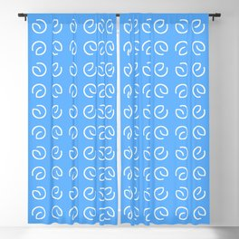 Antic pattern 13- from LBK blue Blackout Curtain