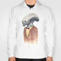 xenomorph Hoodies featuring Xenomorph by Monsters in Plaid