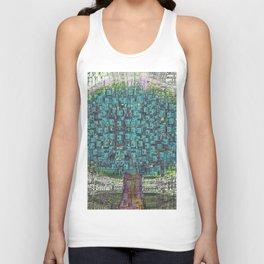 Tree Town - Magical Retro Futuristic Landscape Unisex Tank Top