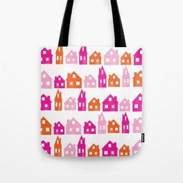 Little Village Orange Tote Bag