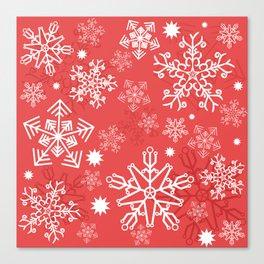 Christmas Snowflakes Canvas Print