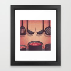 Boobs Kitchen Framed Art Print