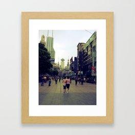 Walking Shanghai Framed Art Print