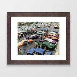 1954 Parkin Lot Custom Car Show Framed Art Print
