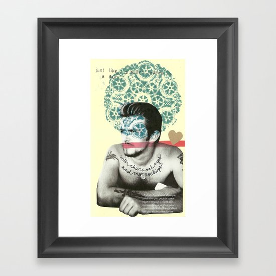 just like a bullet Framed Art Print