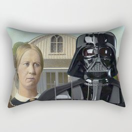 Darth Vader in American Gothic Rectangular Pillow