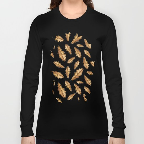 Autumn Leaves Pattern 01 Long Sleeve T-shirt