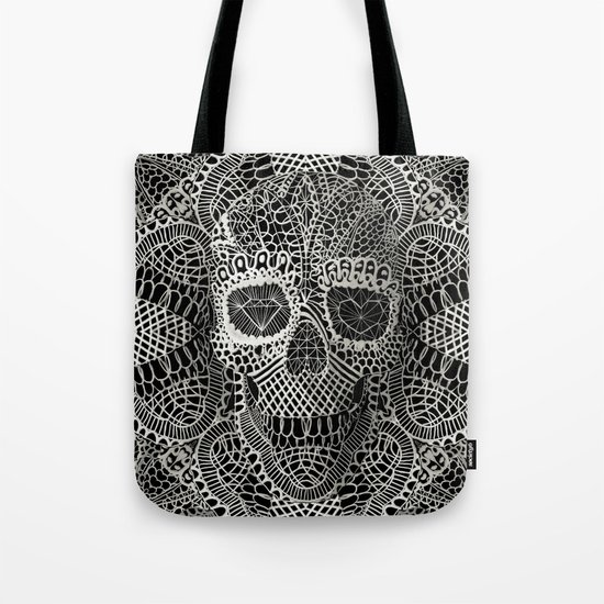 Lace Skull Tote Bag