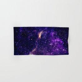 Ultra violet purple abstract galaxy Hand & Bath Towel