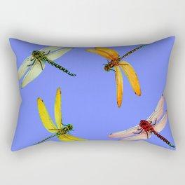 COLORFUL DRAGONFLIES IN BLUE SKY  DESIGN Rectangular Pillow