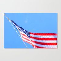 flag Canvas Prints featuring flag by Dottie