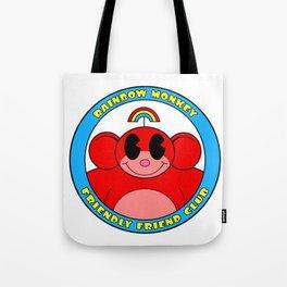 Rainbow Monkey Friendly Friend Club! Tote Bag