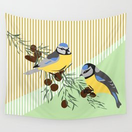 two birds in harmonie Wall Tapestry