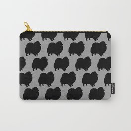 Black Pomeranian Silhouette Carry-All Pouch