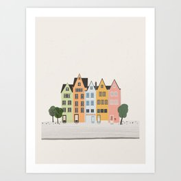 Colorful Cologne Art Print
