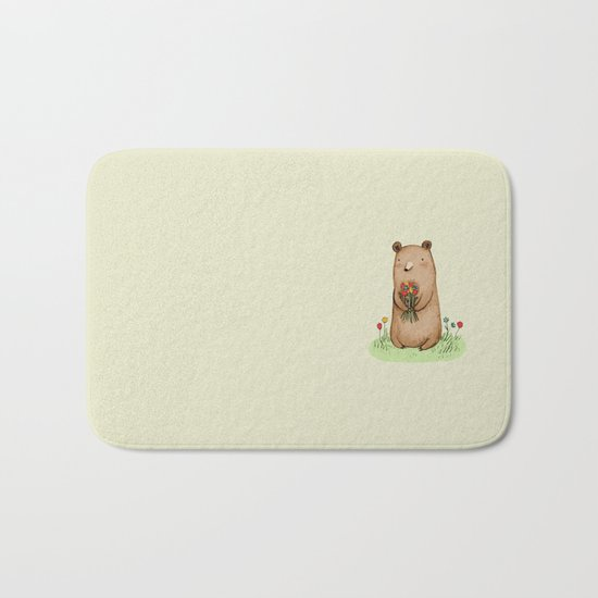 Bear Bouquet Bath Mat