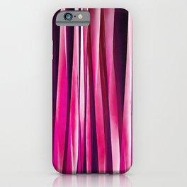 Burgundy Rose Stripy Lines Pattern iPhone Case