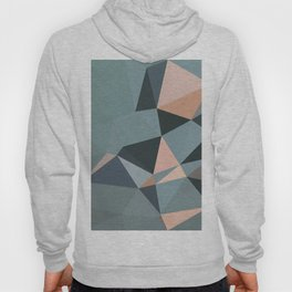 Moody urban Geometry - blue grey peach Hoody