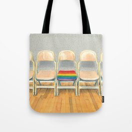 Rainbow Chair Tote Bag