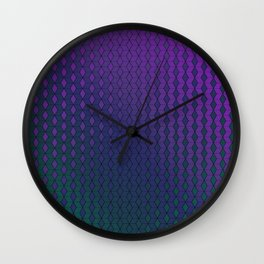 Gradient cube pattern cold Wall Clock