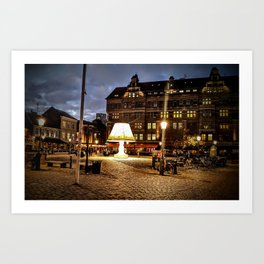 Lamps in Malmo Art Print