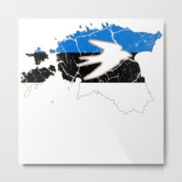 Estonia Tallinn Estonian gift Baltic Metal Print
