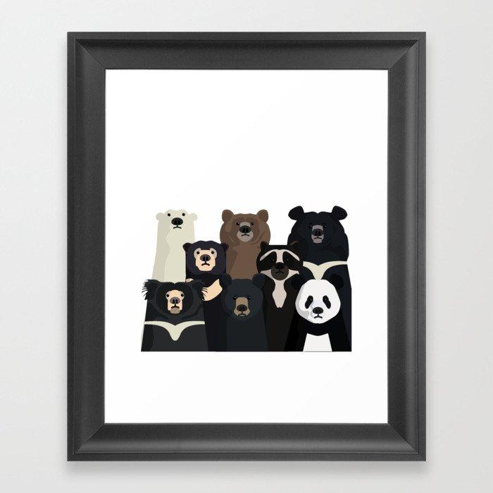 Bear family portrait Gerahmter Kunstdruck