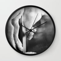 vegan Wall Clocks featuring vegan by Cecilia Cavalieri