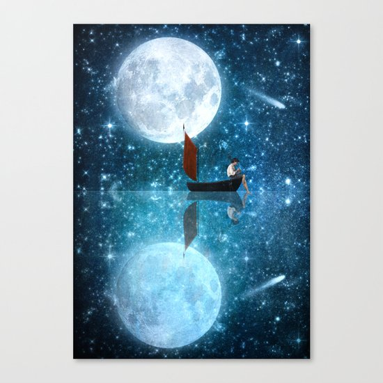 The Moon and Me v2 Canvas Print