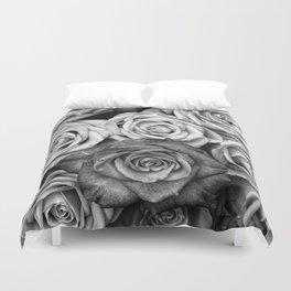 The Roses (Black and White) Duvet Cover