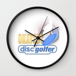 World's Okayest Disc Golfer Funny Disc Golf Wall Clock
