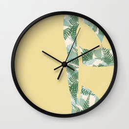 Back to Nature (NZ Ferns) Wall Clock